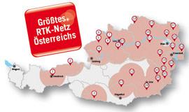 Größtes RTK-Netz in Österreich-